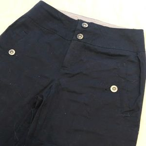 Anthropologie cartonnier navy cropped pant